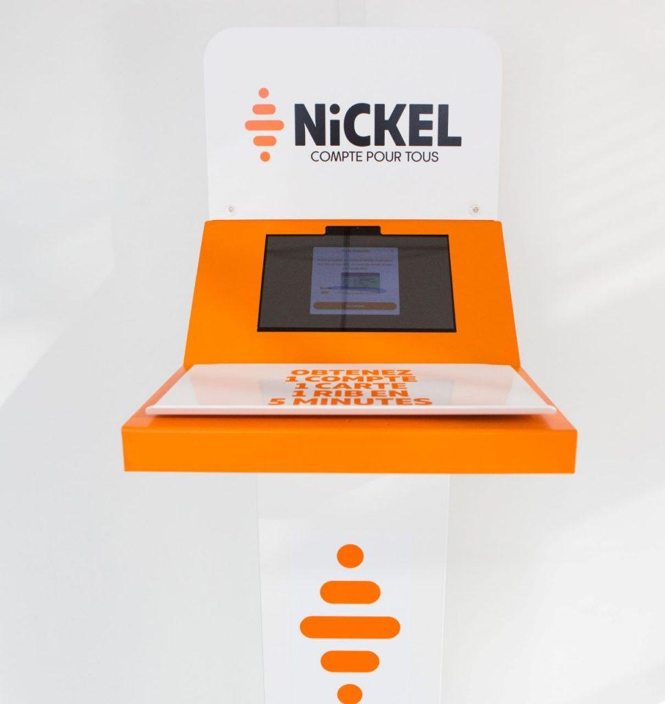 Borne d'ouverture de compte Nickel