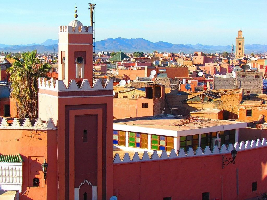 Mosquée à Marrakech, une grande ville du Maroc